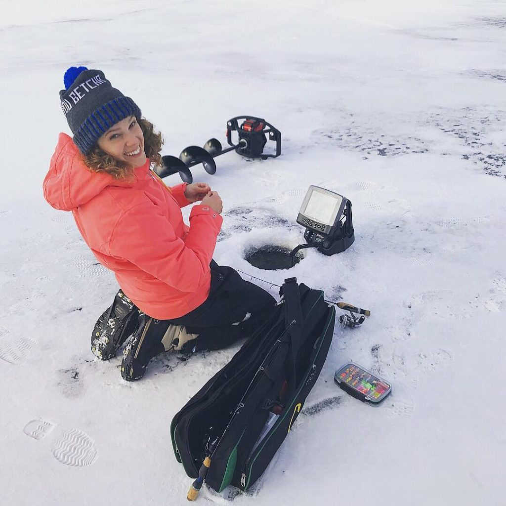 Walleyes through the ice with ana leschishin reelerz for Ice fishing tournaments mn